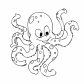 Octopus cartoon animals