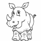 Rhinoceros cartoon animals