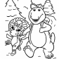 Barney walk with friend, Barney and friends cartoon