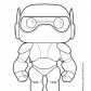 Big hero six Baymax coloring page Big hero 6