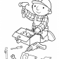 Preparing tools, Bob the builder cartoon