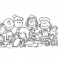 Charlie Brown and friends, Coloring Book