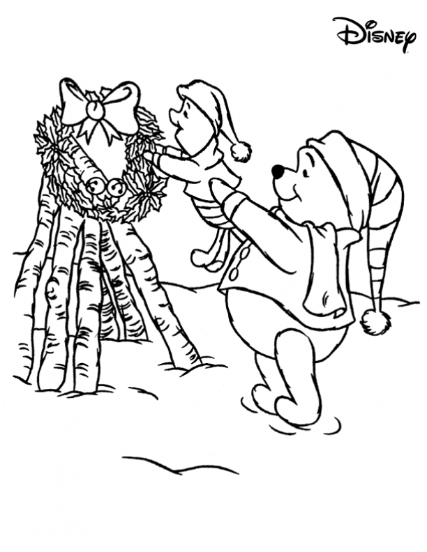 Piglet christmas coloring pages