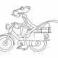 Pink Panther on bicycle, Pink Panther cartoon
