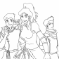 Korra and friends, The Legend of Korra