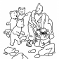 Tintin with little bears, Adventures of Tintin