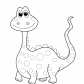 Funny Dinosaur coloring page