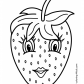 Strawberry with eyes, Fruits simple