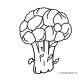 Broccoli vegetable coloring page