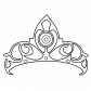 Beautiful crown for girls coloring page
