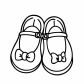 Pretty girls shoes with bows coloring page