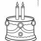 Cake Birthday Party Coloring Pages, for 2 years