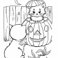 Funny Halloween cats coloring page, Happy Halloween