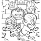 Funny Jack o lanterns coloring page, Happy Halloween