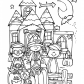 Funny kids and Halloween coloring page, Happy Halloween