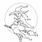 Halloween Pretty witch coloring page, Halloween