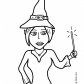 Halloween Witch with wand
