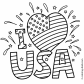 I love USA July 4 independence day