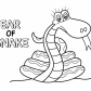 Year of Snake Chinese new year coloring page