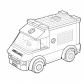 Lego ambulance car coloring page Lego coloring page