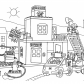Lego fire station coloring page Lego Duplo