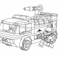 Lego firetruck with fireman coloring page Lego Duplo