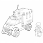 Lego police car coloring page Lego coloring page