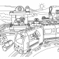 Lego train station coloring page Lego Duplo
