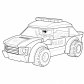 Police car coloring page Lego Lego coloring page