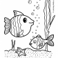 Fish nature coloring page