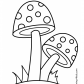 Two mushrooms coloring page
