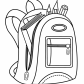 Backpack for school coloring page