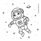 Astronaut in the space