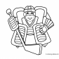 Hockey sport coloring page