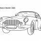 Super car Aston martin DB5 coloring page 2