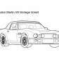 Super car Aston martin V8 vantage coloring page 5