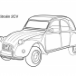 Super car Citroen 2cv coloring page
