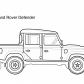 Super car Land Rover Defender coloring page