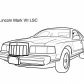 Super car Lincoln Marc VII LSC coloring page
