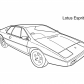 Super car Lotus Esprit S1 coloring page