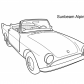 Super car Sunbeam Alpine coloring page