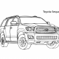 Super car Toyota Sequoia