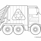 Garbage Truck Transportation Coloring Pages