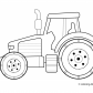 Tractor Transport Coloring pages