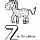 Letter Z of alphabet Z letter words