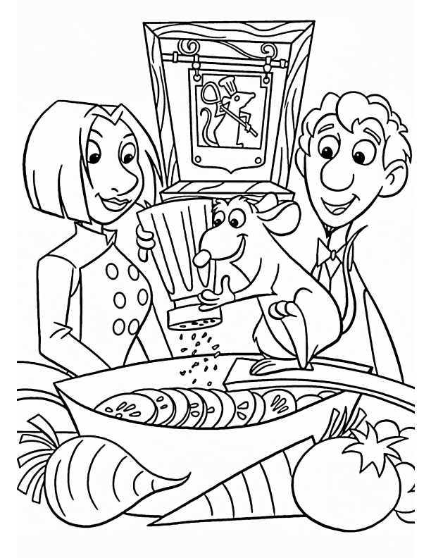 Kids-n-fun.com | 55 coloring pages of Ratatouille | 792x612