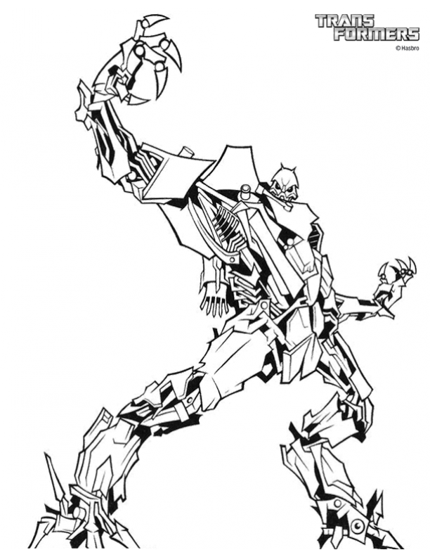 Transformers coloring sheets for kids - Coloring Library | 792x612
