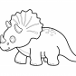 Funny dinosaur triceratops cartoon