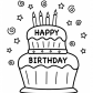 Cake Happy Birthday Party Coloring Pages nice