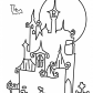 Halloween Castle coloring page, Happy Halloween